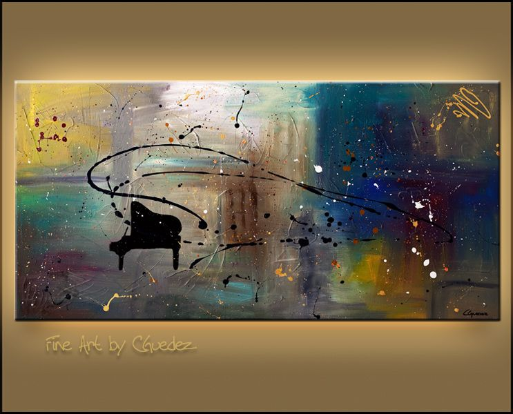 Modern Abstract Art Music Painting For Sale Jazz Night Black Grand Piano Wall Art Music Abstract Art Paintings Cgmodernart Abstract Art Painting Music Art Print Modern Art Abstract