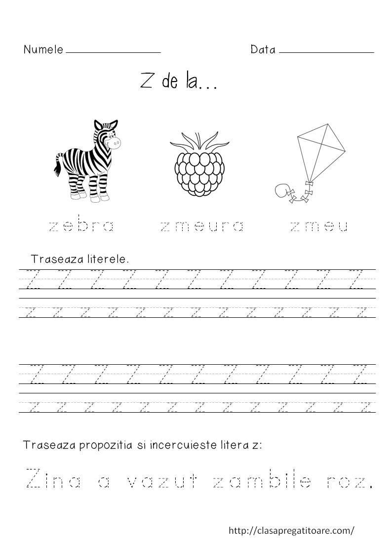 Litera Z Fise Scoala Pinterest Education Montessori And Pdf