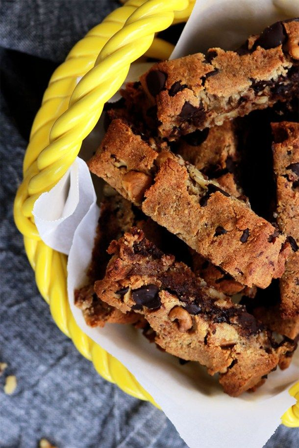 Chocolate Chip Walnut Cookie Sticks Passovergluten Freevegan