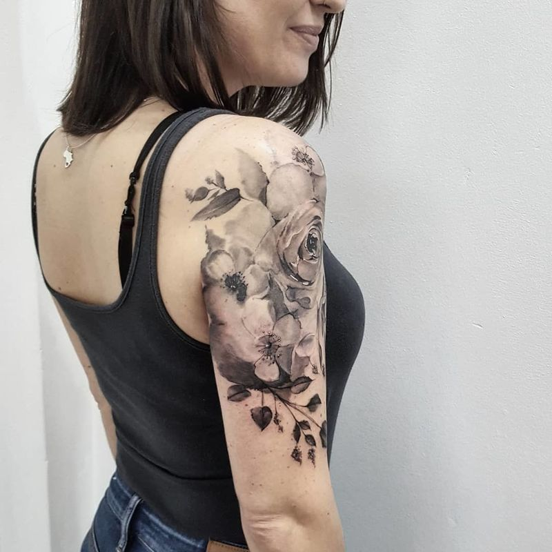 Rose Tattoo Ideas For Women Upper Half Sleeve Tattoos Tattoos For Women Girl Tattoos