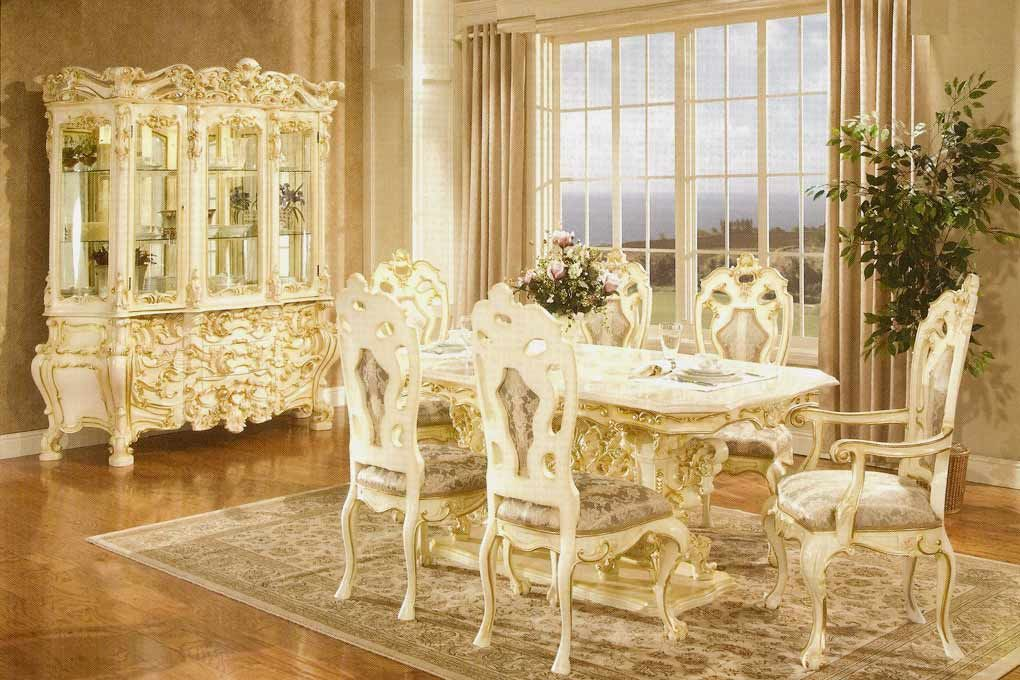 Gilded White Provincial Dining Set  French Provincial  Pinterest Alluring French Provincial Dining Room Table Inspiration
