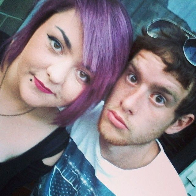 Me and my perfectly purple hair.. and the hubby xo