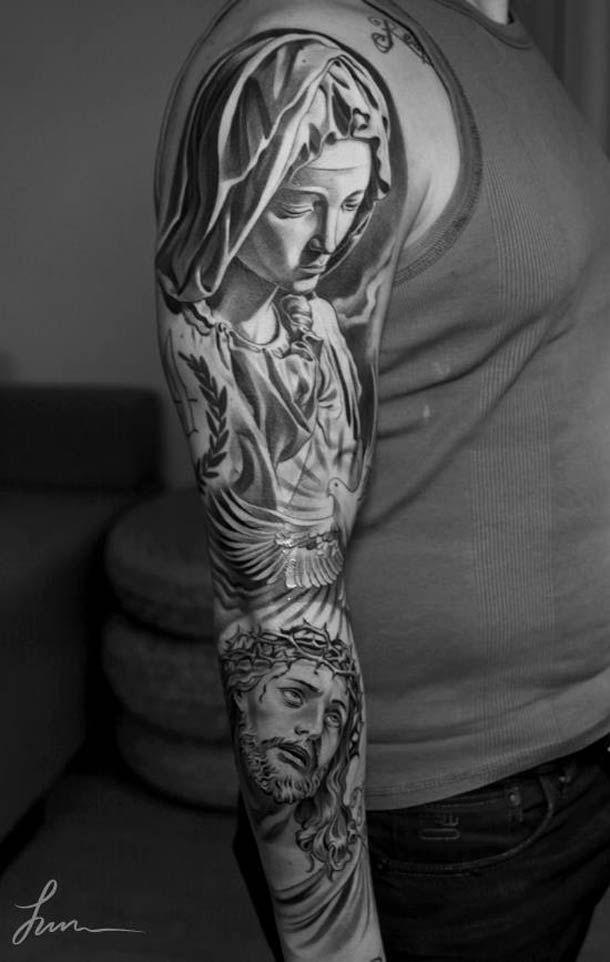 The Tattoo Artist Jun Cha Creates Beautiful And Impressive Tattoos Taking Inspiration From Classical Art