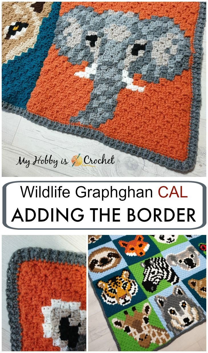 Wildlife Graphghan CAL: Adding the Border + Blanket Final Reveal #crochetcrafts