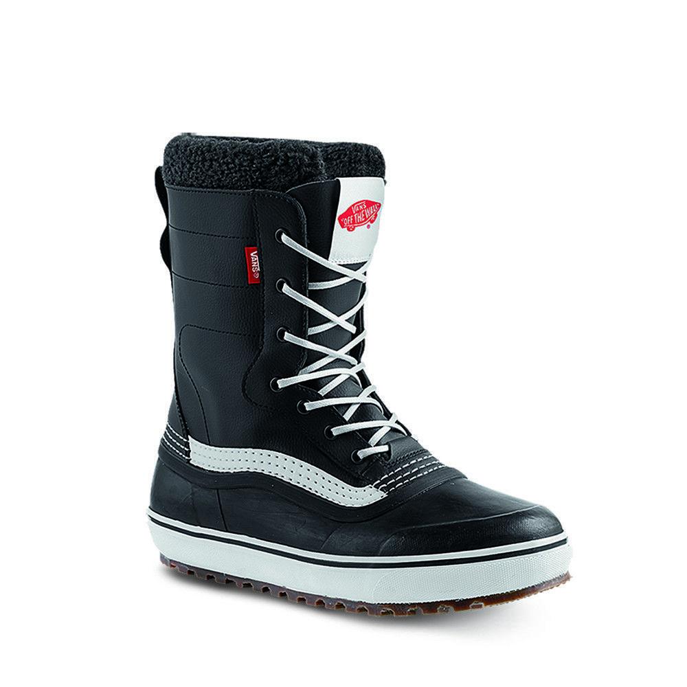 8798adfa2a513d 2019 Vans Standard Mens Black White Snow Boots
