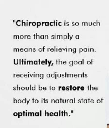 Chiropractic restores the body's ability to function at it's highest