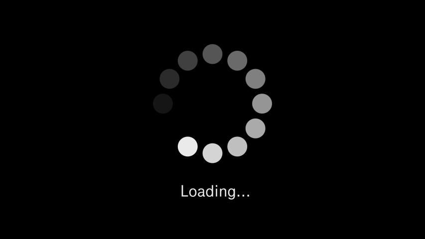 Loading Circle Icon Animation On Stock Footage Video
