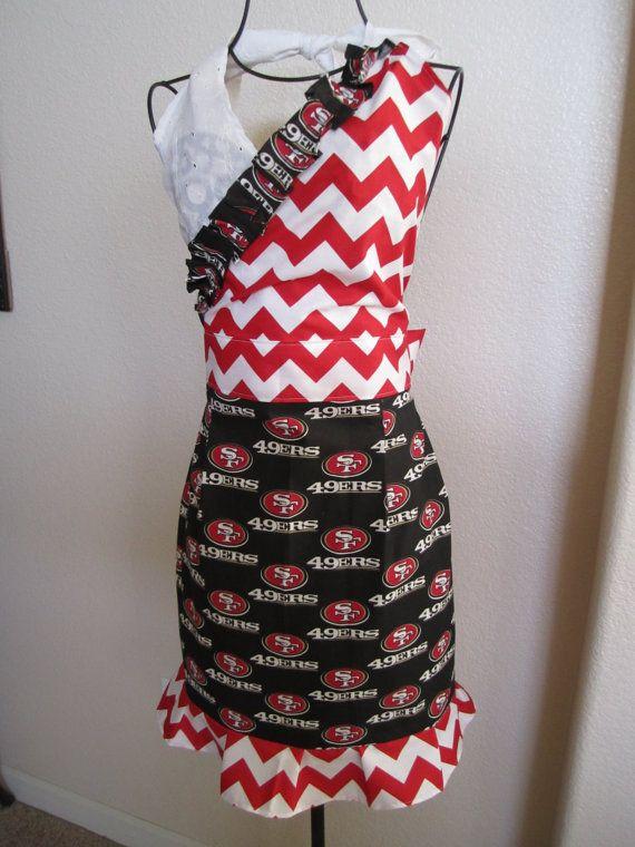 3c3c8d6d Womens Full NFL San Francisco 49ers apron by CsCreations2012, $20.00 ...