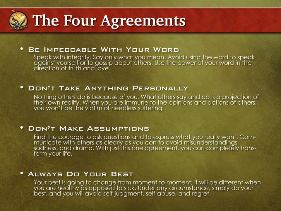 The 4 Agreements-- ) Products I Love Pinterest Inspirational - agreement in word