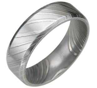 Unique Mens Wedding Ring Striped