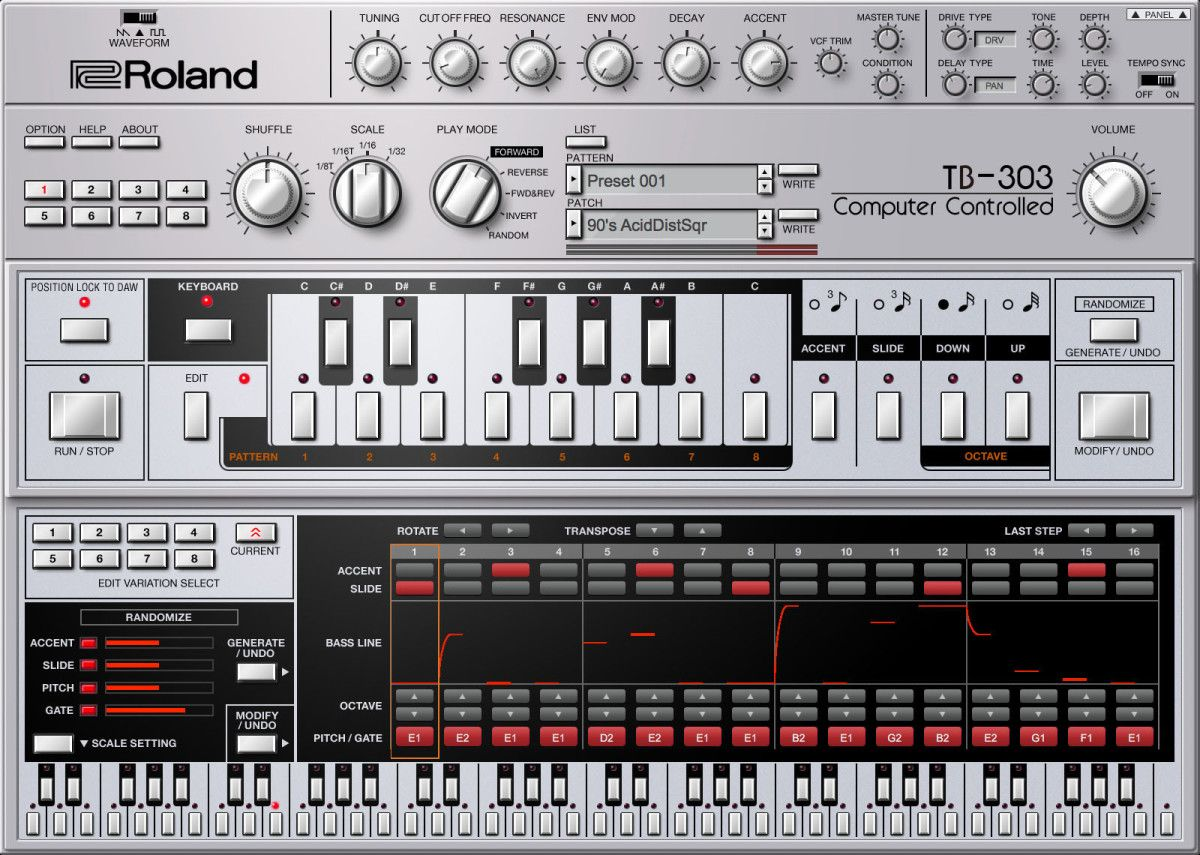 Roland Adds TB303 Bass Synthesizer to Cloud Tb 303