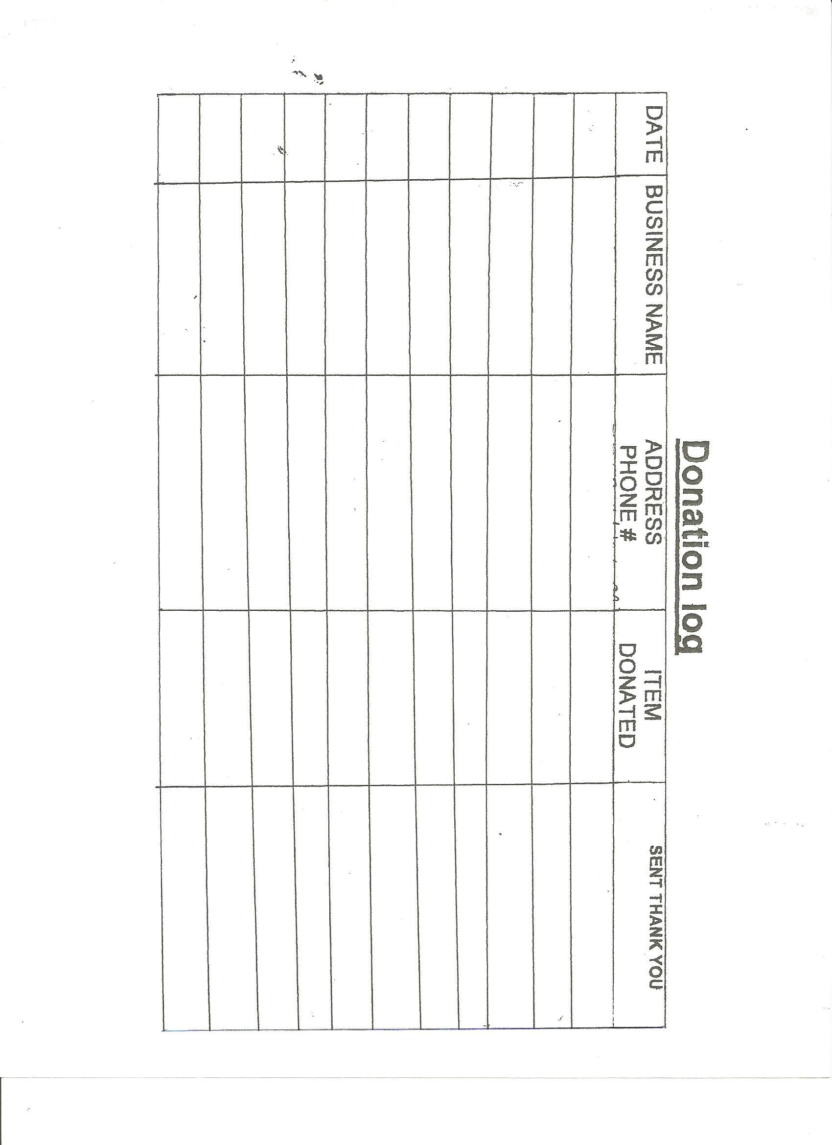 Donation Log  Frg Forms