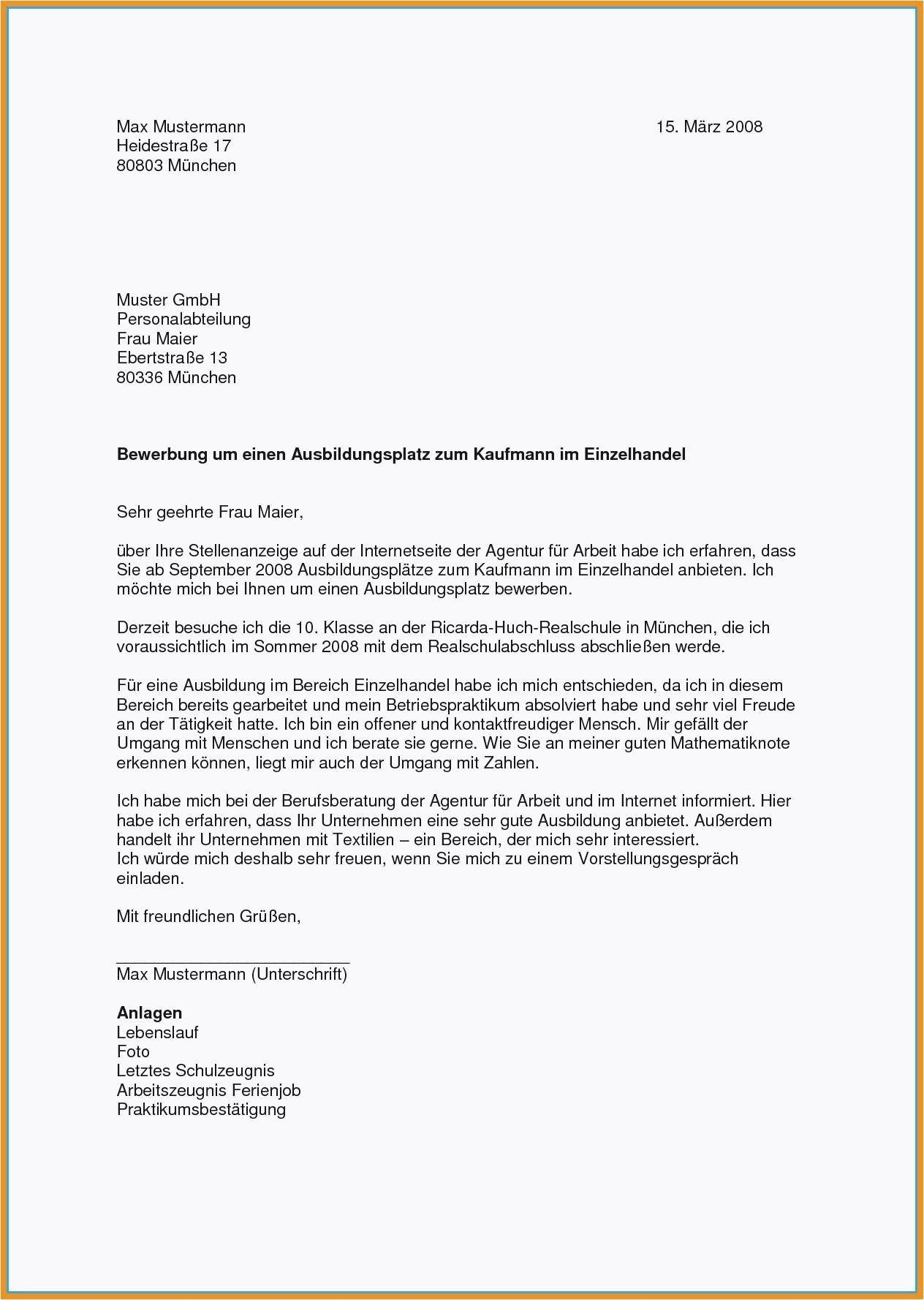 Frisch Bewerbungsvorlage Pdf Briefprobe Briefformat Briefvorlage Vorlagen Lebenslauf Lebenslauf Bewerbung Ausbildungsplatz