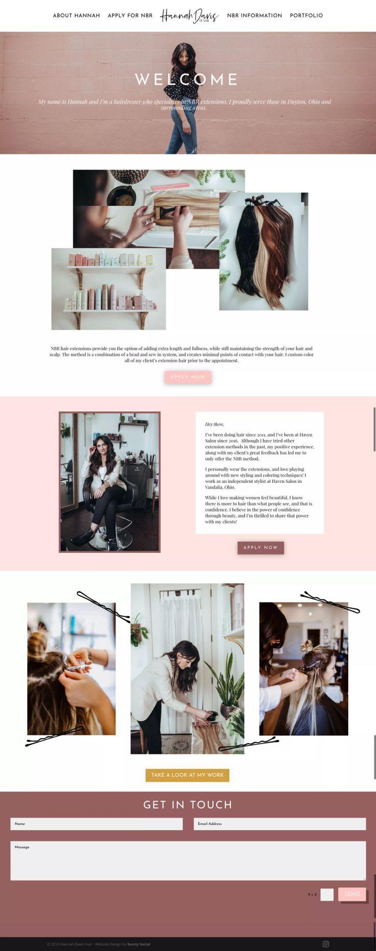 Sunny Social Website Design For Hannah Davis Web Design Web Design Inspiration Web Design Layout Portfolio Web Design Website Design Web Design Inspiration