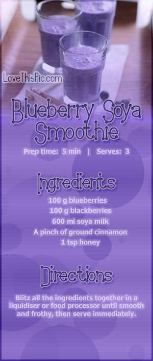 How To Make Blueberry Soya Smoothie Recipe Beverages Drinks Recipe