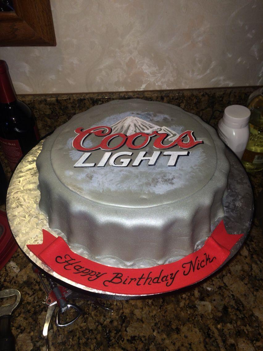 Coors Light Cake Desserts Pinterest Coors Light