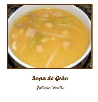 Receitas - Sopa de Grão - Petiscos.com