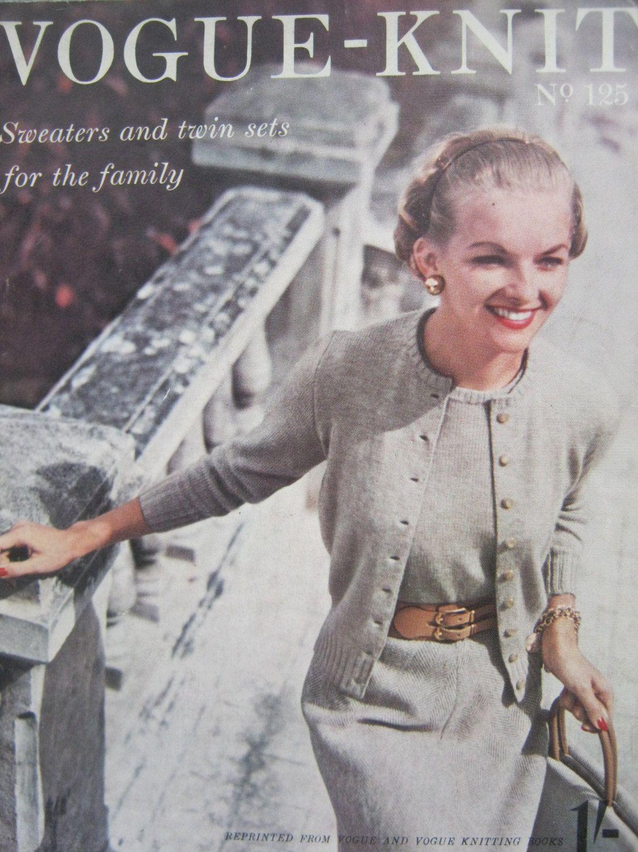 Vogue Knitting Magazine No. 125 Twinsets Twin Sets, Sweaters, 1953 ...