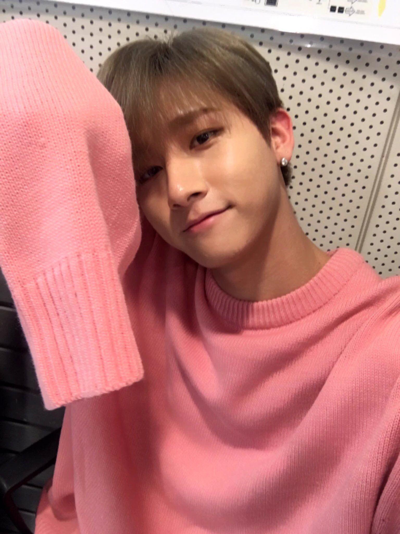 Monsta X Changkyun Im Cute Pink