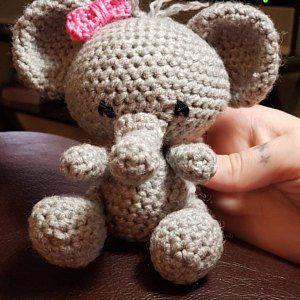 PATTERN: Ellis the Elephant - crochet elephant pattern - amigurumi elephant pattern - English, German, Portuguese - PDF crochet pattern #crochetelephantpattern