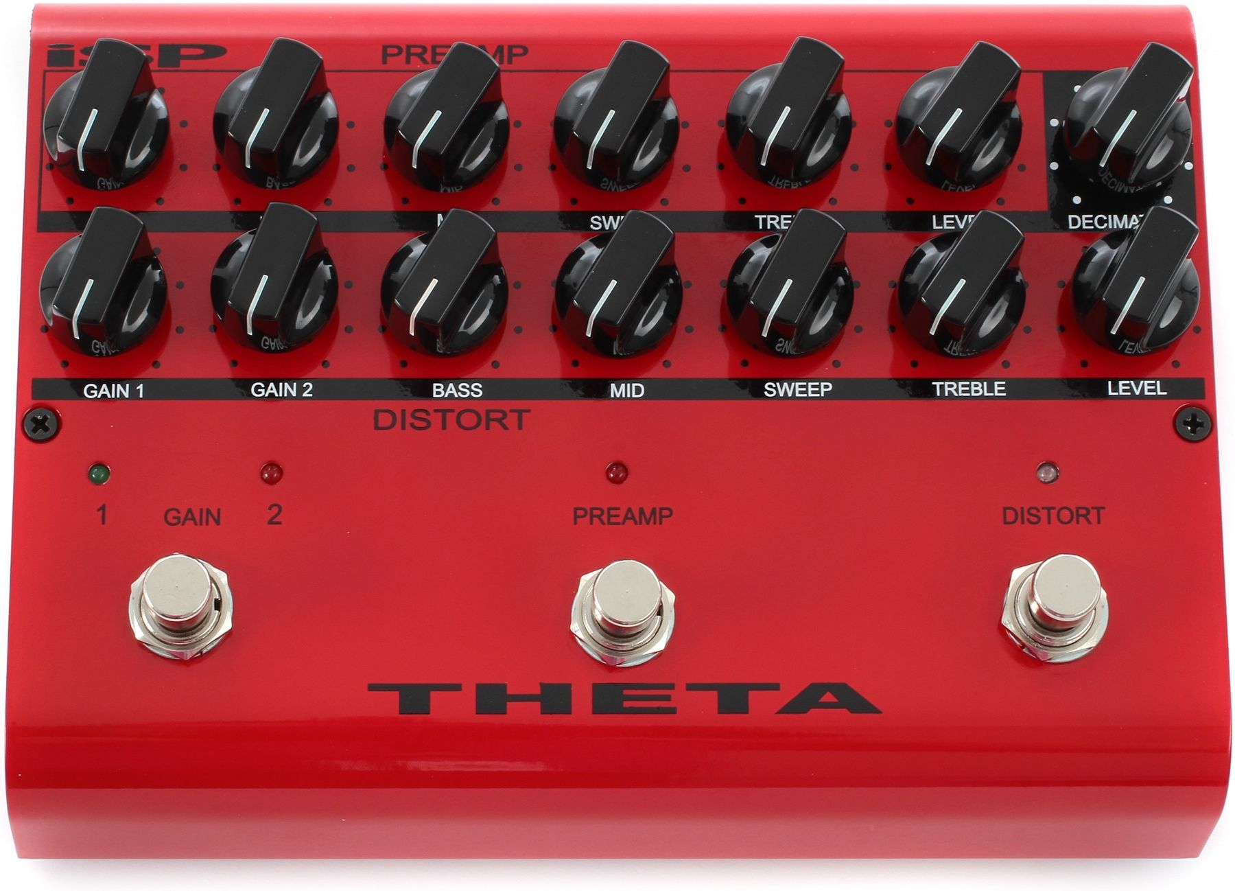 Isp Technologies Theta Preamp Distortion Pedal With Decimator Noise Reduction Distortion Pedal Theta Pedal