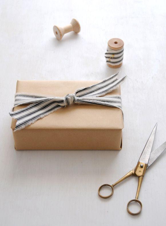 DIY Fabric Gift Wrap: Cozy Parisian Holiday