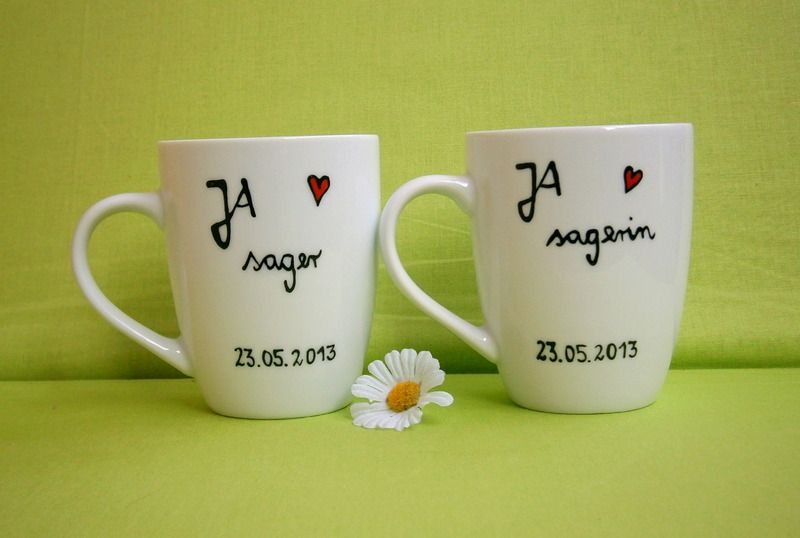 Hochzeit Ja Sager Hochzeitsgeschenk Tasse 2x Hochzeit Tassen Geschenkideen Hochzeit Geschenk Hochzeit
