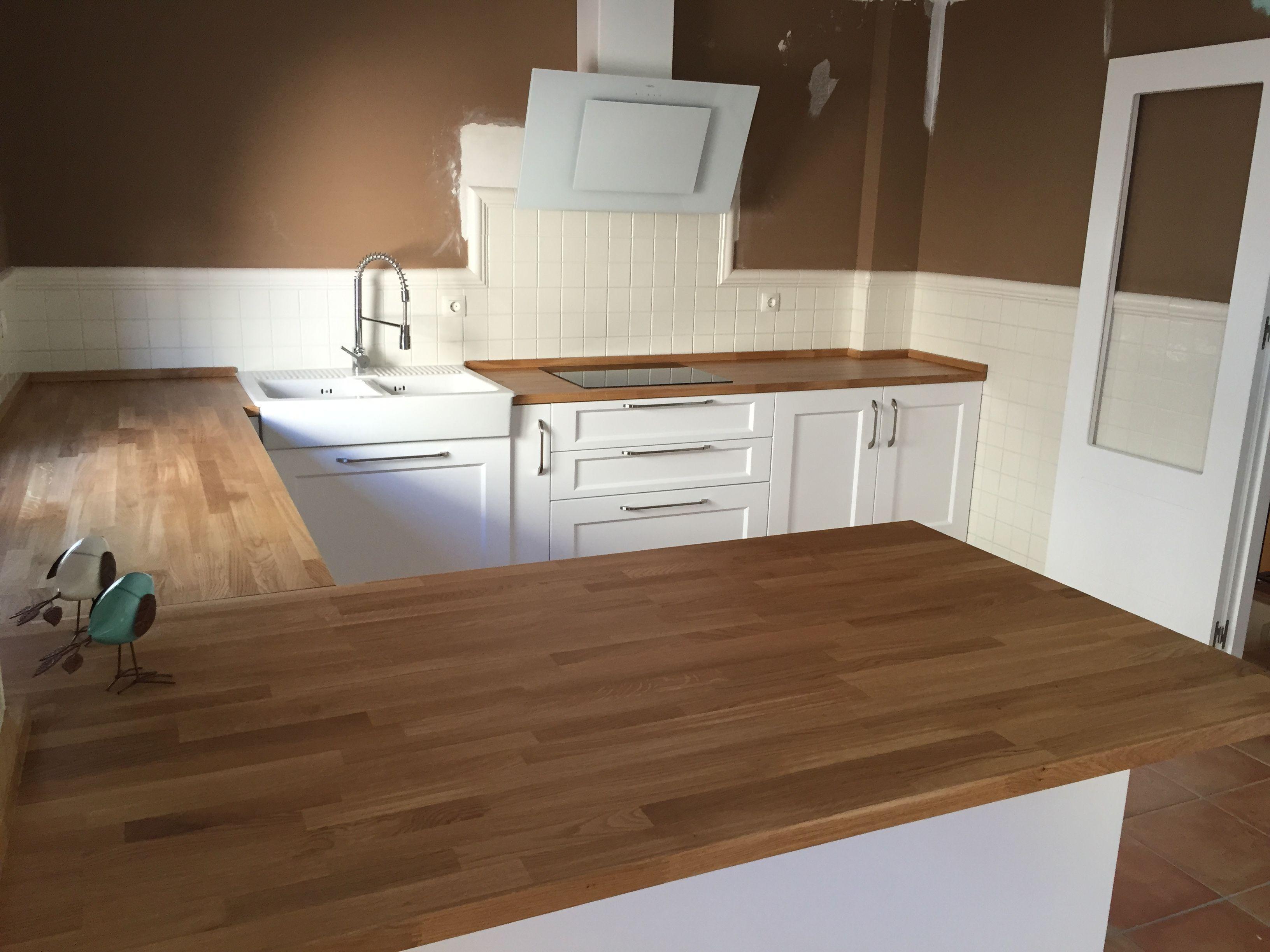 Cocina de dise o n rdico escandinavo puertas lacadas - Encimera madera maciza ...