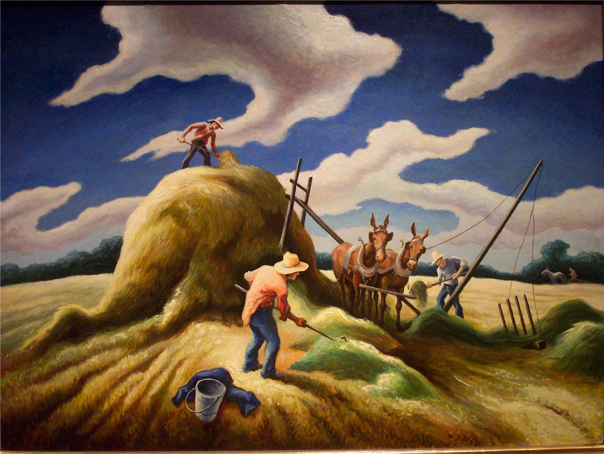 an analysis of cradling wheat a painting by thomas hart benton Study for a painting owned by the dallas art museum  thomas hart benton  cradling wheat read more show details.