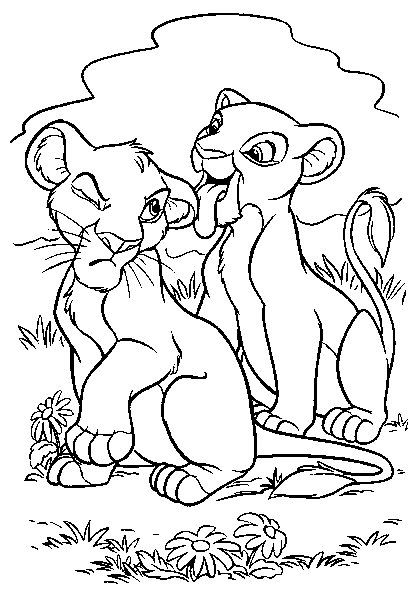Simba e nala, rei leão, para colorir | new 2016 | Pinterest ...