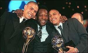 Ronaldo, Pelé y Roberto Carlos