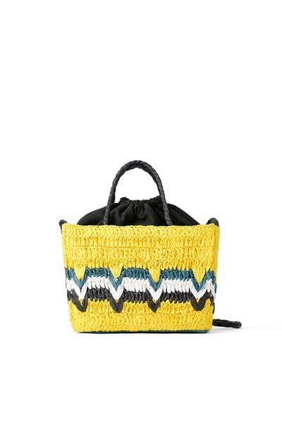 12224a54f0f ZARA - Female - Colorful woven natural mini bag - Multicolor - M in ...