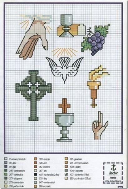 patrones de punto de cruz motivos religiosos - Buscar con Google ...