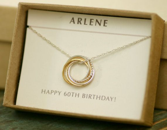 60th Birthday Gift For Mom, Wife, Sister, Dainty 60th