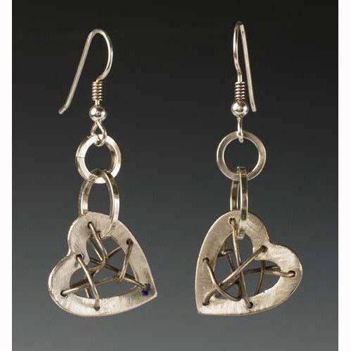 Mended Heart Earrings by Sherri Cohen Design Designer jewelry