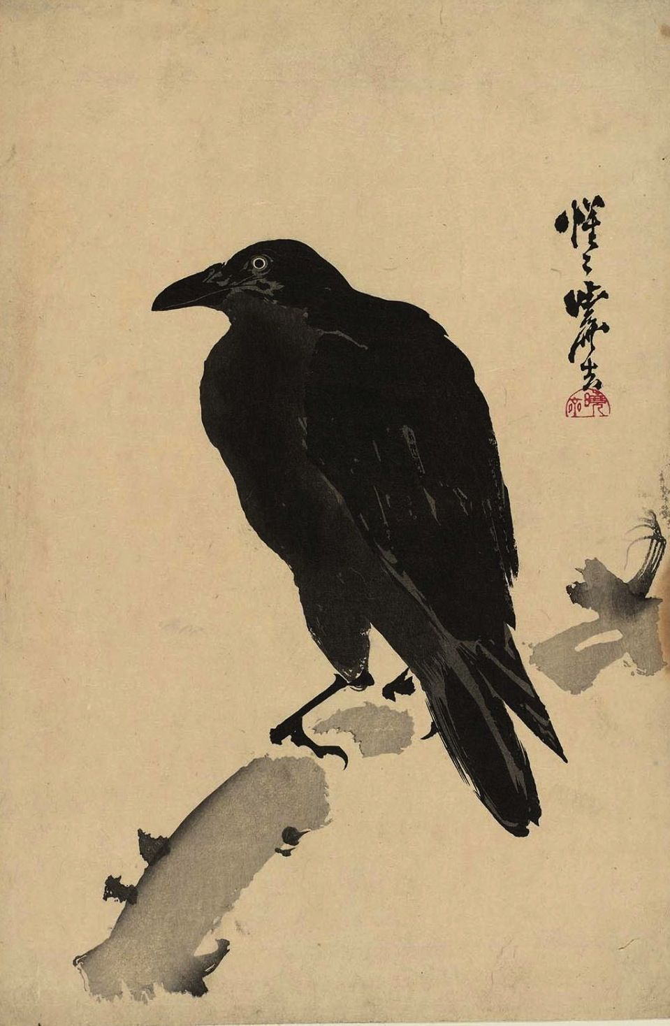 Kawanabe Kyōsai (1831-1889) - Black Crow (Karasu Kuro ...