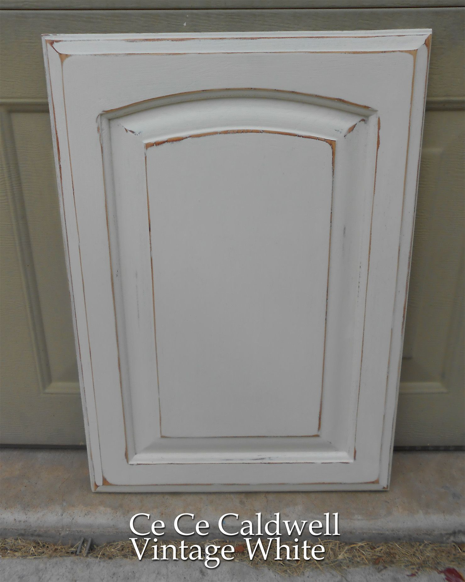White Cabinet Door Design using chalk paint for oak kitchen cabinets (test door) | oak