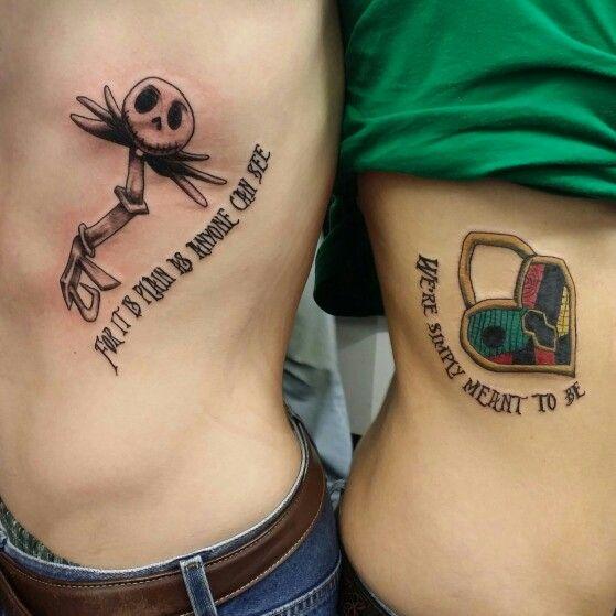 7853560bf Jack and sally key and heart tattoo | tattoo portfolio | Couple ...