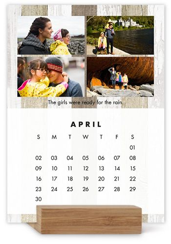 Neutral Gallery Easel Calendar Products - photo calendar