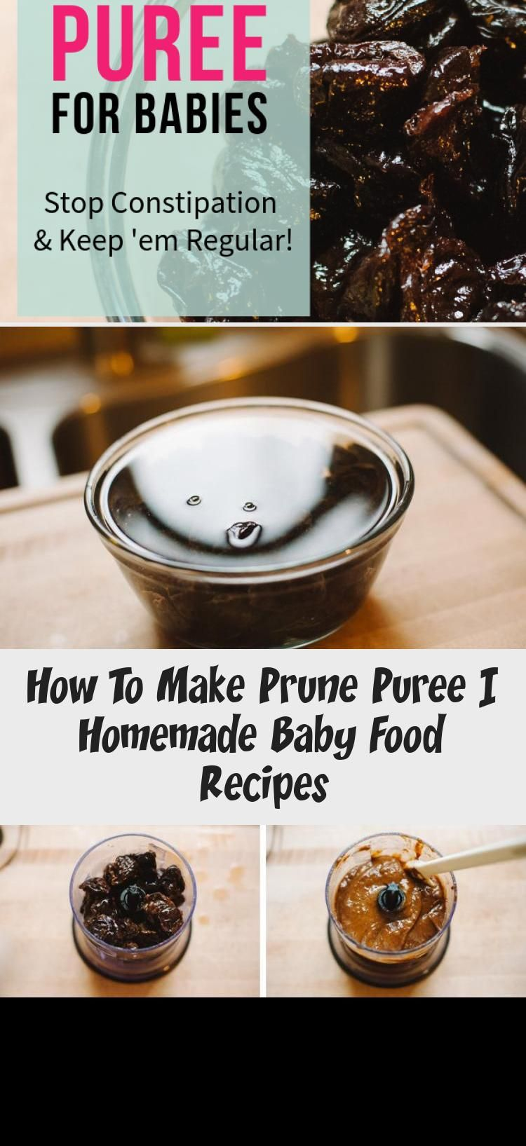 How To Make Prune Puree in 2020 Baby food recipes