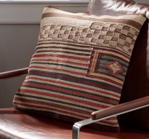 Pottery Barn Sawyer Stripe Kilim 20 Quot Pillow Cover Wool Rug