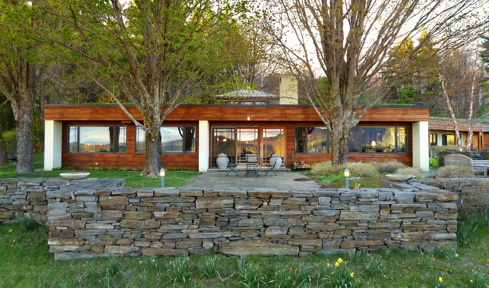 berm home interior. The Pinnacle House an earth  sheltered home in Lyme NH