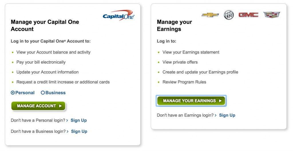 Gm card login rewards card sign in