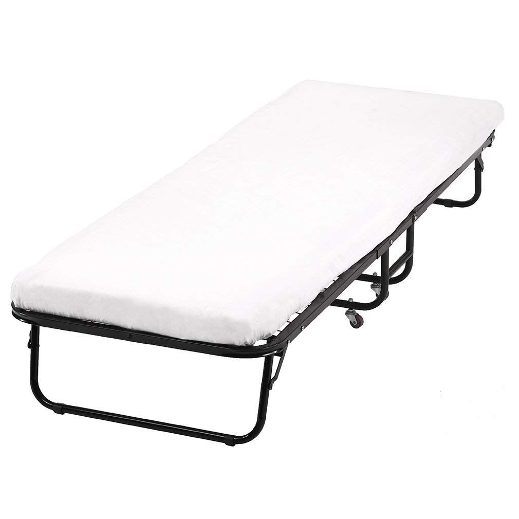 Folding Guest Bed Frame With 4 Inch Comfort Foam Mattress Twin
