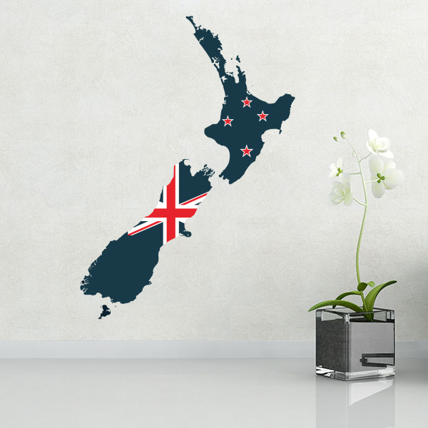 My diy new zealand flag map sticker free shipping 2016 diythinker com