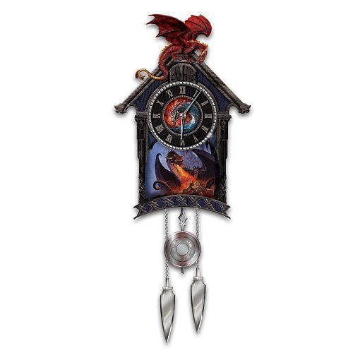 A Timeless Quest For Power Dragon Art Cuckoo Clock By The Bradford Exchange By Bradford Exchange Http Www Amazon Com Dp B002l3g9li Cuckoo Clock Clock Cuckoo