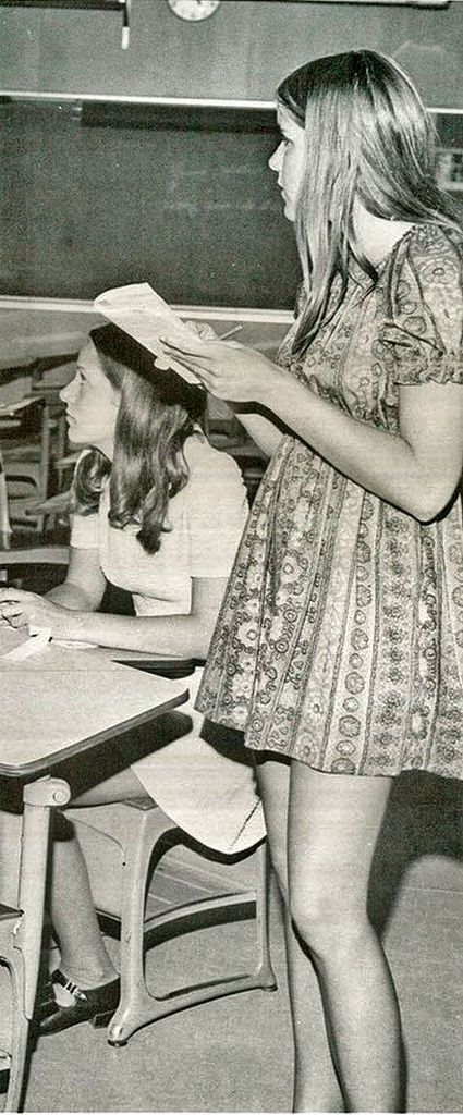 3d625c668 vintage everyday: Mini Skirts in the Classroom in the Past | Teen ...