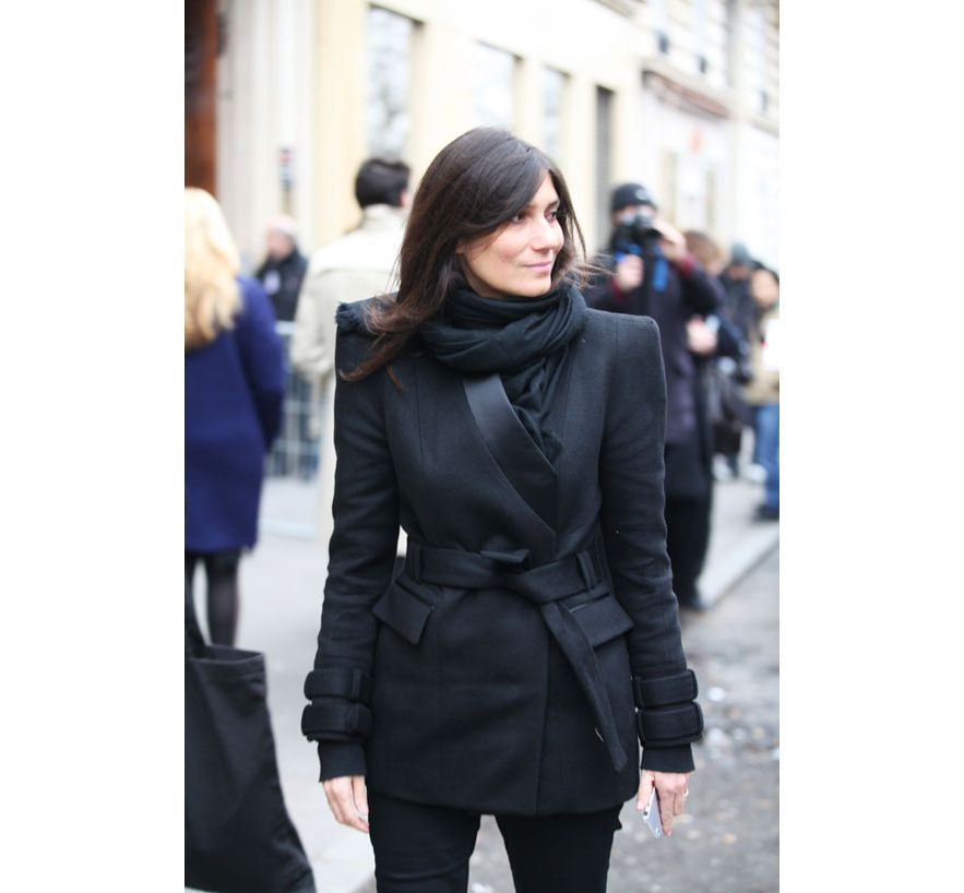 Emmanuelle Alt, editor-in-chief Vogue Paris @ Paris FashionWeek 2013 AW