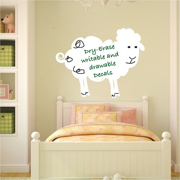 Sheep Dry Erase Decal - Dry Erase Wall Decal Murals - Primedecals ...