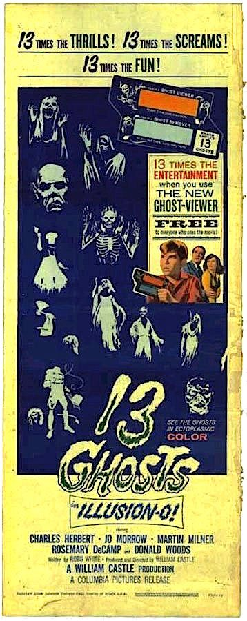 13 Ghosts 1960 Classic Horror Movies Posters 13 Ghost Movies